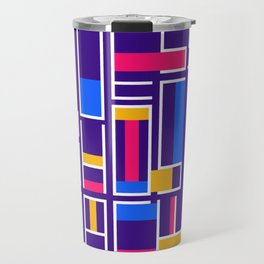 Colored Typography - Gues Who's Back - Modrian Letters Travel Mug