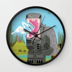 Hippopotamouth Wall Clock
