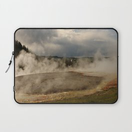 A Cloud Of Steam And Water Over A Geyser Laptop Sleeve