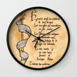 Dominus Trinus Gold & Silver, Spanish Version Wall Clock