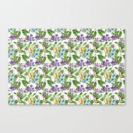 Floral naïf pattern Canvas Print