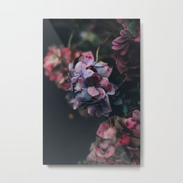 FLOWERS - FLORAL - PINK - RED - PHOTOGRAPHY Metal Print