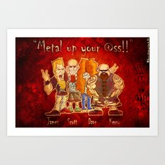 The Big Four of Thrash Metal!  Art Print