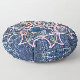 Scottish Blessing Celtic Hearts Floor Pillow
