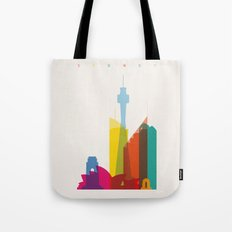 Shapes of Sydney. Accurate to scale Tote Bag