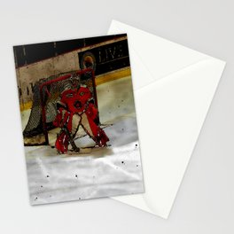Life Goals - Ice Hockey Goalie Motivational Art Stationery Cards