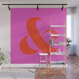 Hot Ampersand Wall Mural