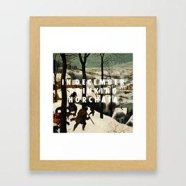 Horchata in the Snow Framed Art Print