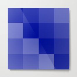 Four Shades of Blue Square Metal Print