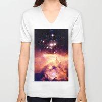 nebula V-neck T-shirts featuring nebUla : Warm Scorpius by GalaxyDreams