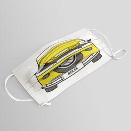 Retro camper caravan Face Mask