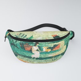Jungle Living Low Poly Geometric Triangles Fanny Pack