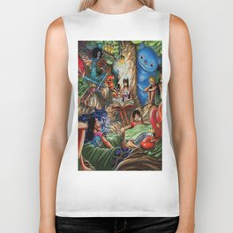 One piece of sleep with friends Biker Tank