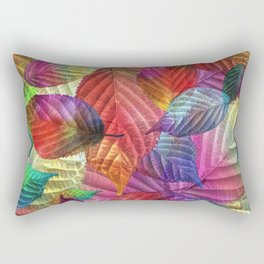 Coloured Leaf Collage Rectangular Pillow