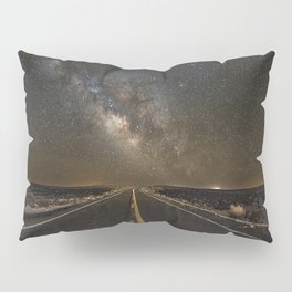 Go Beyond - Road Leads Into Milky Way Galaxy Pillow Sham