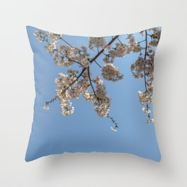 Cherry Blossoms from Below Throw Pillow