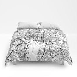 Washington Map White Comforters