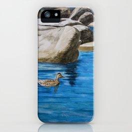 Morning Swim at Lake Tahoe iPhone Case