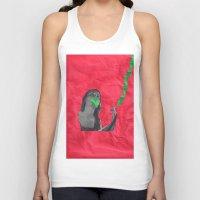 cigarettes Tank Tops featuring Watermelon Cigarettes by Alicia Ortiz