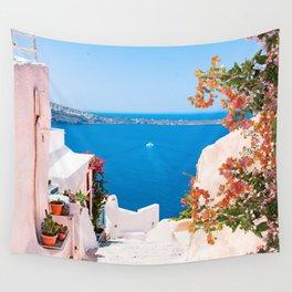 Santorini Greece Wall Tapestry