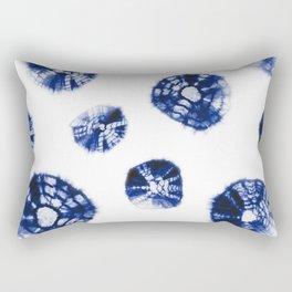 Shibori Kumo blue & white Rectangular Pillow
