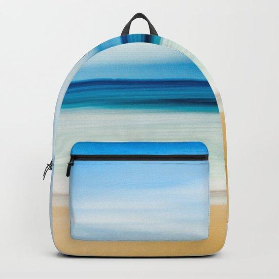 Blurred Beach Backpack