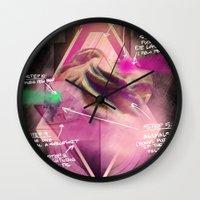 blueprint Wall Clocks featuring Epic Blueprint by Ramsay Lanier