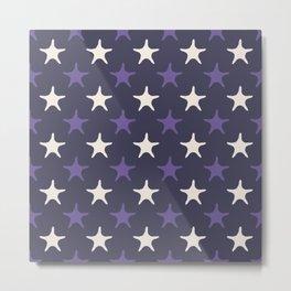Ultra violet starfish seamless pattern. Metal Print