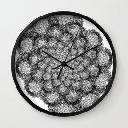 GEOMETRIC NATURE: BROCCOLI w/b Wall Clock