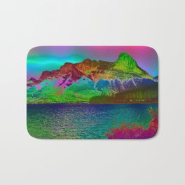 Rainbow Mountains Bath Mat
