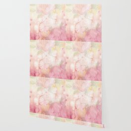 Watercolor Pink Floral Background Wallpaper