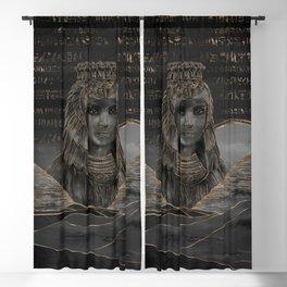 Cleopatra on Egyptian pyramids landscape Blackout Curtain