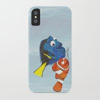 nemo iPhone & iPod Cases featuring Finding Nemo by Larissa
