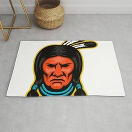 Sioux Chief Sports Mascot Rug