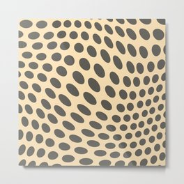 Retro Polka Dots 2b Metal Print