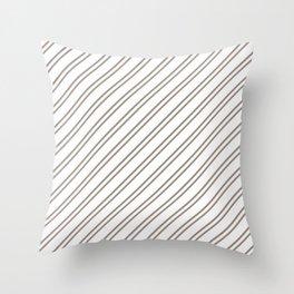 Brown Diagonal Stripes Throw Pillow