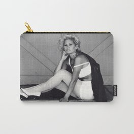 Michél -train station platform (black and white photography, model) Carry-All Pouch