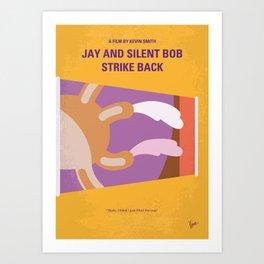 No889 My Jay and Silent Bob Strike Back minimal movie poster Art Print
