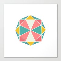 polygon Canvas Prints featuring Polygon by Juste Pixx Designs