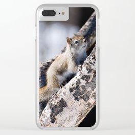 Camo Squirrel Clear iPhone Case