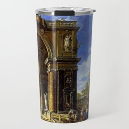 Giovanni Paolo Pannini Masterpiece: Circe Entertaining Odysseaus at a Banquet Travel Mug