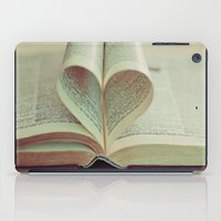 literary iPad Cases featuring i heart books by shannonblue