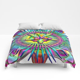 """Passiflora The """"Passion Flower"""" Psyhcedelic Abstract Comforters"""