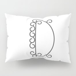 """Letter """"D"""" in beautiful design Fashion Modern Style Pillow Sham"""