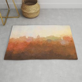 Madison, Wisconson Skyline - In the Clouds Rug