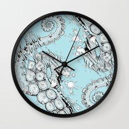 Cephalopodic Swipe (linework) Wall Clock