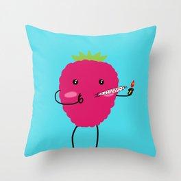 Rasberry Joy Throw Pillow