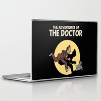 tintin Laptop & iPad Skins featuring The Adventures Of The Doctor by Deborah Picher Illustrations