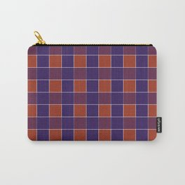 PLAID, RED AND BLUE Carry-All Pouch