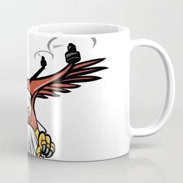Half Eagle Half Drone Swooping Mascot Coffee Mug